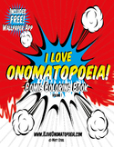 I Love Onomatopoeia! Comic Coloring Book P1-10 FREE Sampler