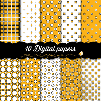 I Love Orange - 10 Digital Papers