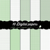 I Love Pastel Green - 10 Digital Papers