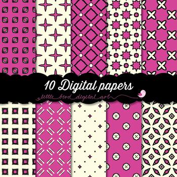I Love Pink - 10 Digital Papers