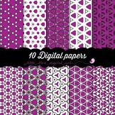 I Love Purple - 10 Digital Papers
