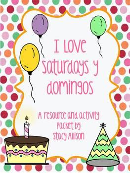 I Love Saturdays y domingos Activity Pack