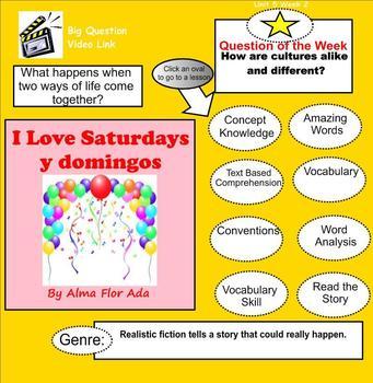 I Love Saturdays y domingos SmartBoard Menu