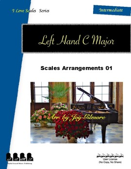 I Love Scales in C Major for the Left Hand Exercise 01