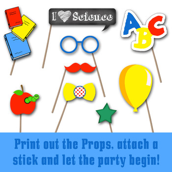 Back to School Photo Booth Props and Decorations - Printable