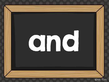 Sight Word Slide Show, Literacy First List A Words 1-50, I Love School