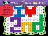 I Love Second Hundreds Chart Fun - Watch, Think, Color Game!