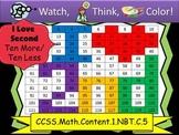 I Love Second Ten More/Ten Less - Watch, Think, Color Game! CCSS.1.NBT.C.5