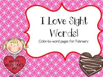 I Love Sight Words