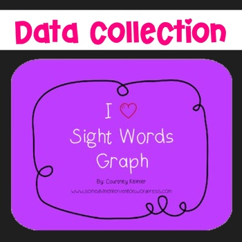 I Heart Sight Words Graph (Dolch) Free