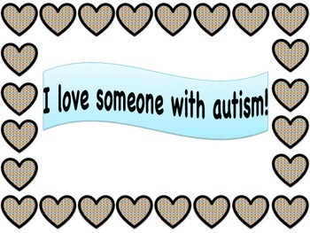 I Love Someone With Autism - Clipart, Borders, and Posters!