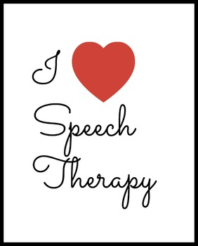I Love Speech Therapy