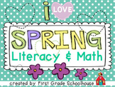 Spring Literacy and Math Activities and Centers