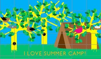 I Love Summer Camp Printable Bulletin Board