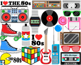 I Love The 80s v1 - Clip Art Digital Files Personal Commer
