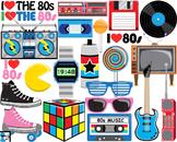 I Love The 80s v2 - Clip Art Digital Files Personal Commer