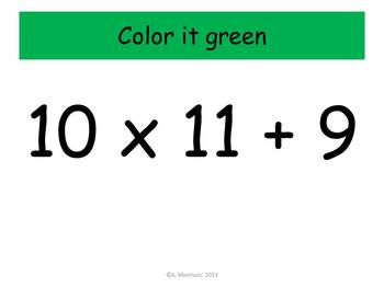 I Love Third Multiplication Practice - Watch, Think, Color! CCSS.3.OA.C.7