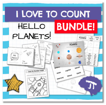 I Love To Count HELLO PLANETS Color and Count Emergent Reader