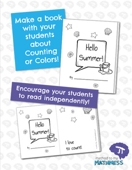 I Love To Count HELLO SUMMER Color and Count Emergent Reader