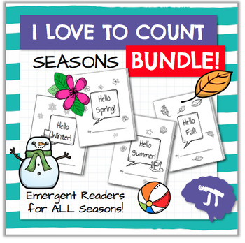I Love To Count SEASONS Emergent Readers BUNDLE
