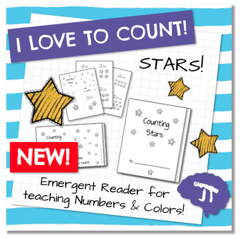 I Love To Count STARS Color and Count Emergent Reader