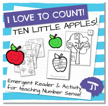 I Love To Count TEN LITTLE APPLES Color and Count Emergent Reader