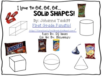 I Love To Eat, Eat, Eat...Solid Shapes! FREEBIE!
