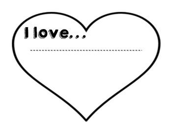 """I Love..."" Valentine's Activity"