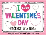 Valentine's Day Literacy and Math Activities and Centers