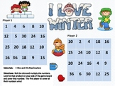 I Love Winter Multiplication Game