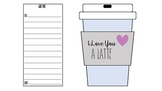 I Love You A Latte Valentines Day Cards