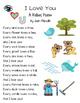 I Love You ~ A Rebus Poem