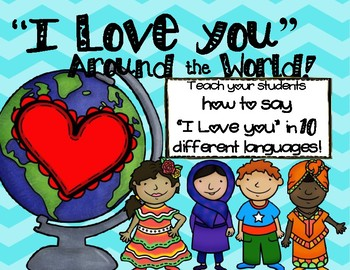 I Love You Around the World Valentine's Day Multicultural Diversity Book Craft
