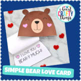 """I Love You """"Bear-y"""" Much Valentine's Day Card or Mother's"""