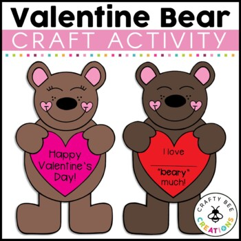 I Love You Beary Much Cut and Paste