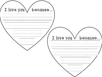 I Love You Because {Creative Writing Book}