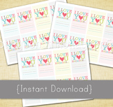 I Love You Because - Love Notes - Printable Love Cards for