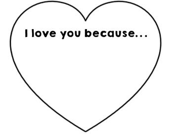 I Love You Because Valentine Freebie