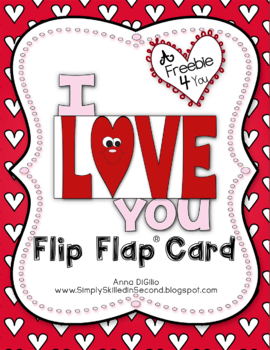 I Love You Flip Flap Card
