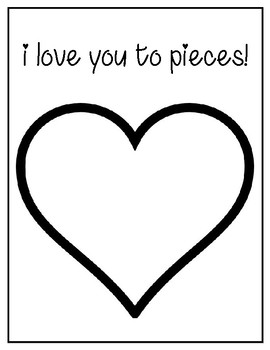I Love You To Pieces Valentine's Day Template