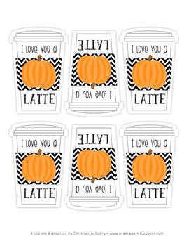 I Love You a Latte Tags - Pumpkin