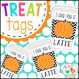 I Love You a Latte Tags - Pumpkin