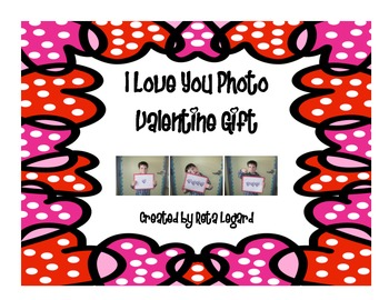 I Love You photo gift