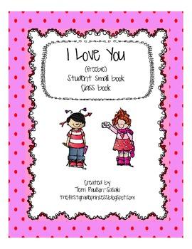 I Love You small book (freebie)