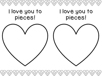 I Love You to Pieces Activity {FREEBIE}