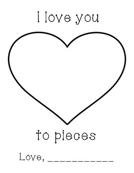 photograph relating to I Love You to Pieces Printable identified as I Take pleasure in Oneself In the direction of Elements Moms Working day Worksheets Academics Fork out