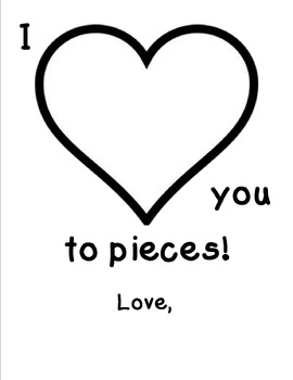 I Love You to Pieces Craft