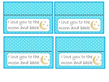 I Love You to the Moon and Back Treat Toppers