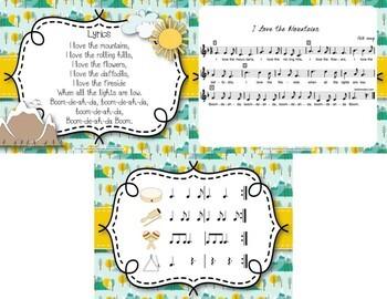 I Love the Mountains - Folk Song with Rhythmic Instrument Accompaniment