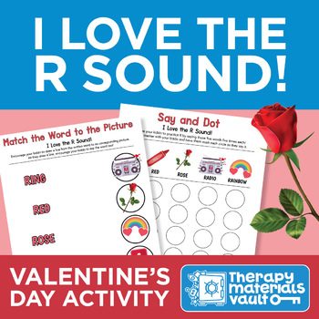 I Love the /r/ Sound! Valentine's Day Activity Bundle